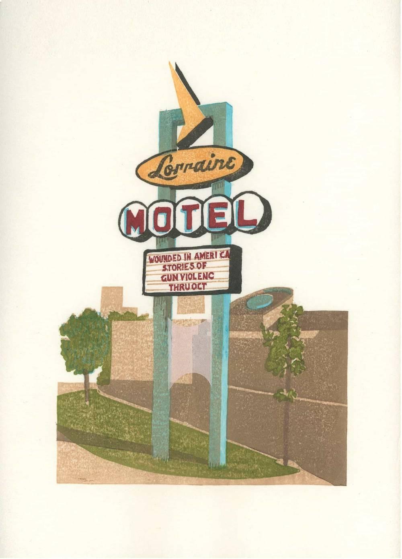 """The Lorraine,"" 2013, watercolor woodblock print, 13 x 9.5 inches-min-min"