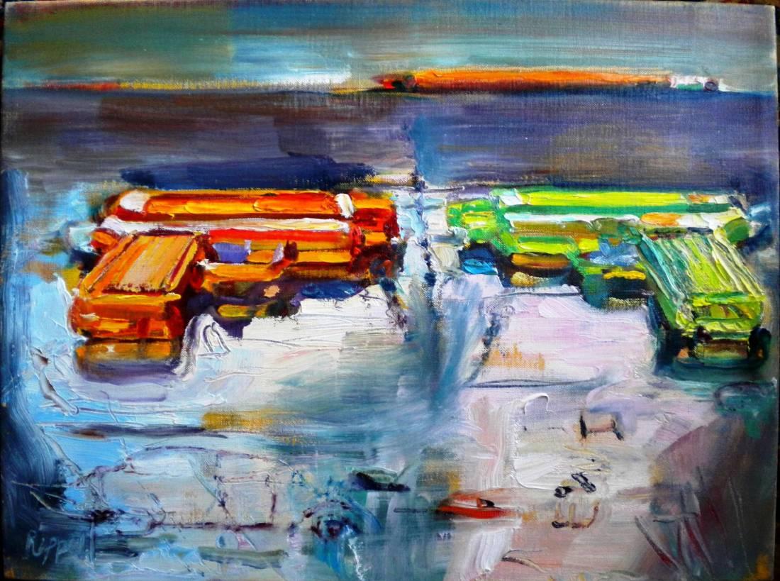 Common Elements, 1999, oil paint on linen, 12″ x 16″-1