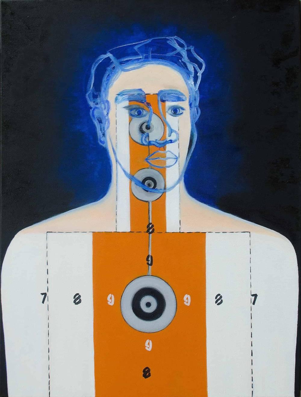Don't Shoot, oil on canvas, 32″x24″-min-min