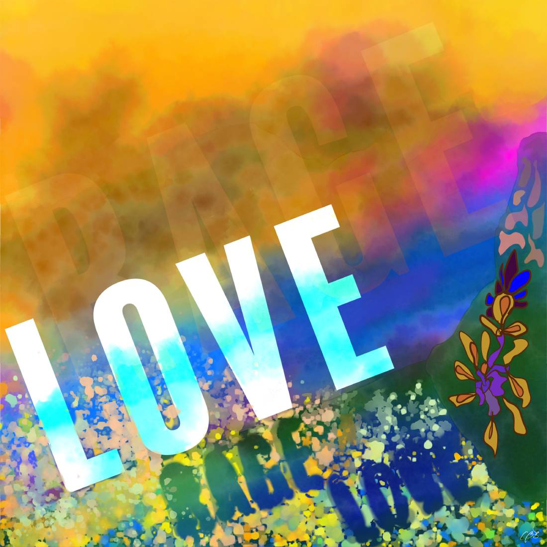 Love/Grief/Rage/Love, 2021, Digital Illustration