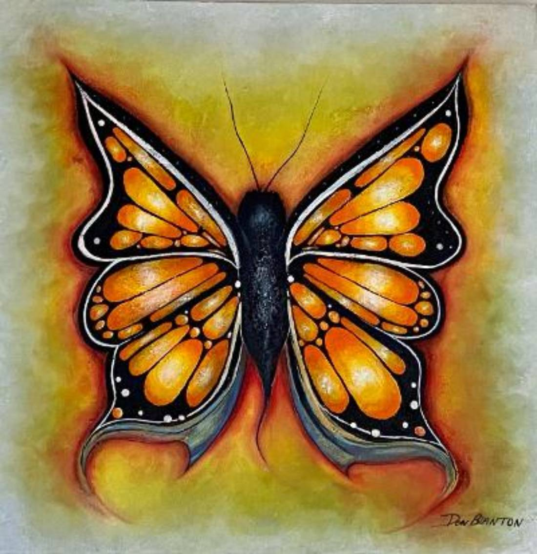 Final Stage of a Butterfly. 2021, acrylic paint 36″X36″-min