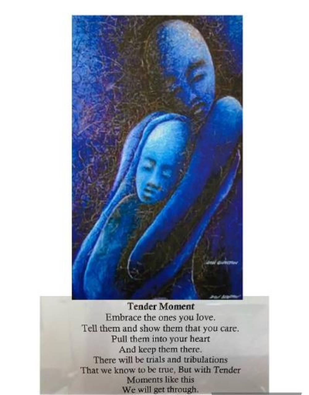 Tender Moment, Poem/oil painting 24″x30″-min