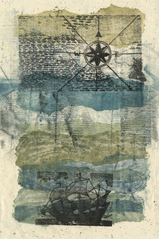 The Sea, 2021_monoprint_22x30″-min